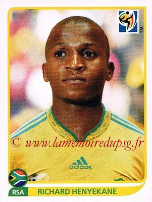 2010 - Panini FIFA World Cup South Africa Stickers - N° 044 - Richard HENYEKANE (Afrique du Sud)