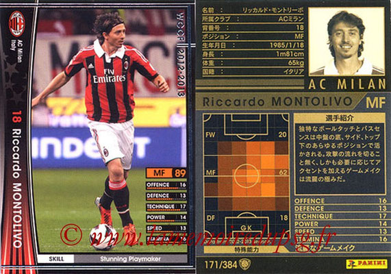 2012-13 - WCCF - N° 171 - Riccardo MONTOLIVO (Milan AC)