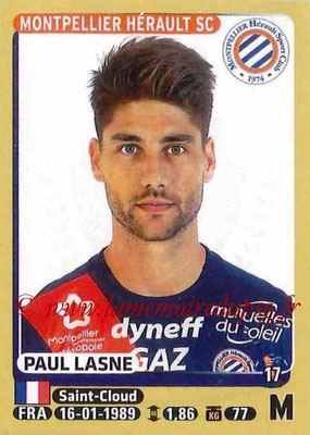2015-16 - Panini Ligue 1 Stickers - N° 278 - Paul LASNE (Montpellier Hérault SC)