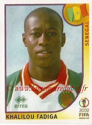 2002 - Panini FIFA World Cup Stickers - N° 057 - Khalilou FADIGA (Sénégal)