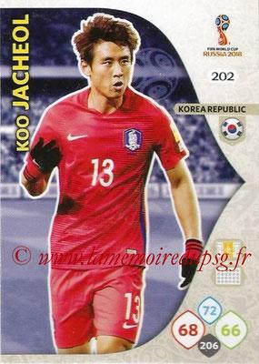 2018 - Panini FIFA World Cup Russia Adrenalyn XL - N° 202 - Koo JA-CHEOLU (Corée du Sud)