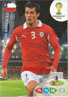 2014 - Panini FIFA World Cup Brazil Adrenalyn XL - N° 069 - Marco GONZALEZ (Chili)