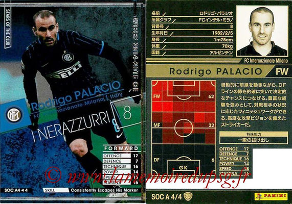2013-14 - WCCF - N° SOC A4 - Rodrigo PALACIO (FC Inter Milan) (Stars Of The Club)
