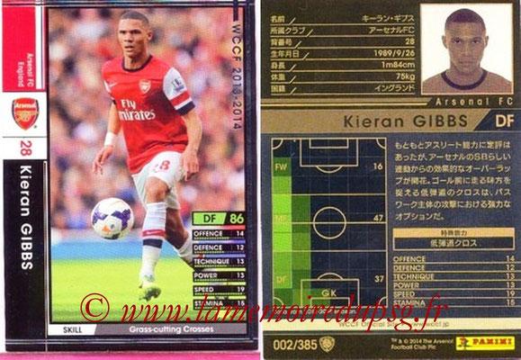 2013-14 - WCCF - N° 002 - Kieran GIBBS (Arsenal FC)