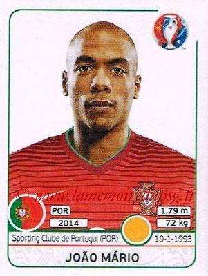 Panini Euro 2016 Stickers - N° 588 - Joao MARIO (Portugal)