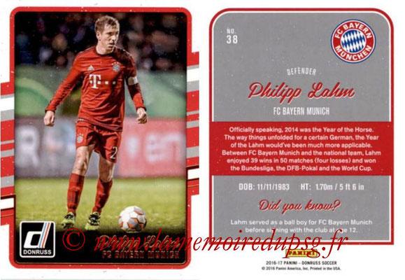 2016 - Panini Donruss Cards - N° 038 - Philipp LAHM (FC Bayern Munich)