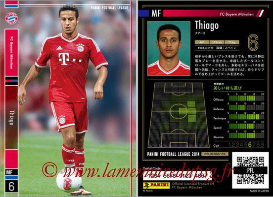 Panini Football League 2014 - PFL08 - N° 084 - THIAGO (Bayern Munich)