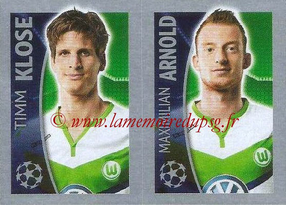 2015-16 - Topps UEFA Champions League Stickers - N° 147 - Timm KLOSE + Maximilian ARNOLD (VFL Wolfsburg)