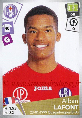 2017-18 - Panini Ligue 1 Stickers - N° 469 - Alban LAFONT (Toulouse)