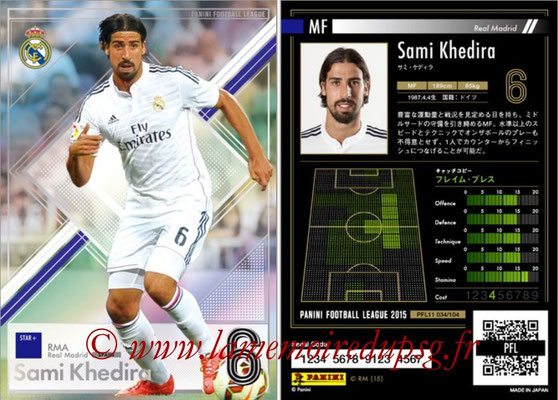 Panini Football League 2015 - PFL11 - N° 034 - Sami KHEDIRA (Real Madrid) (Star +)