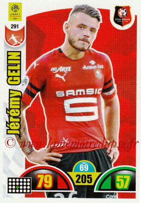 2018-19 - Panini Adrenalyn XL Ligue 1 - N° 291 - Jérémy GELIN (Rennes)