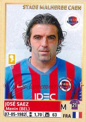2014-15 - Panini Ligue 1 Stickers - N° 064 - José SAEZ (SM Caen)