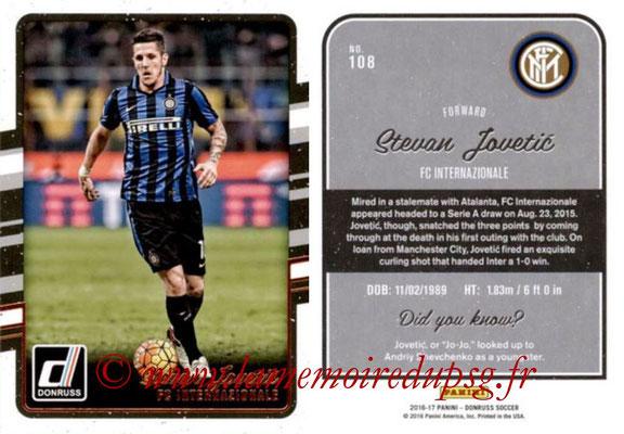 2016 - Panini Donruss Cards - N° 108 - Stevan JOVETIC (FC Internazionale)