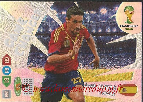 2014 - Panini FIFA World Cup Brazil Adrenalyn XL - N° 397 - Jesus NAVAS (Espagne) (Game Changer)