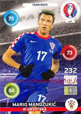 Panini Euro 2016 Cards - N° 147 - Mario MANDZUKIC (Croatie)