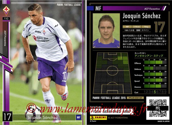 Panini Football League 2015 - PFL09 - N° 034 - Joaquin SANCHEZ (Fiorentina)