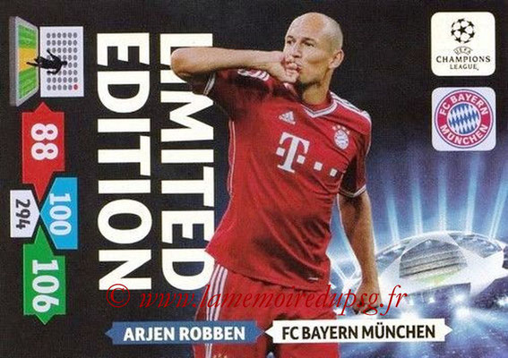 2013-14 - Adrenalyn XL champions League N° LE14 - Arjen ROBBEN (FC Bayern Munich) (Limited Edition)