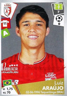 2017-18 - Panini Ligue 1 Stickers - N° 173 - Luiz ARAUJO (Lille)