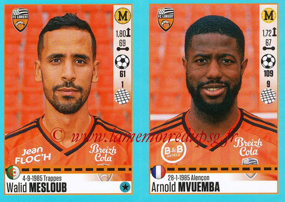 2016-17 - Panini Ligue 1 Stickers - N° 330 + 331 - Walid MESLOUB + Arnold MVUEMBA (Lorient)