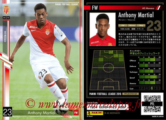 Panini Football League 2015 - PFL09 - N° 079 - Anthony MARTIAL (AS Monaco)
