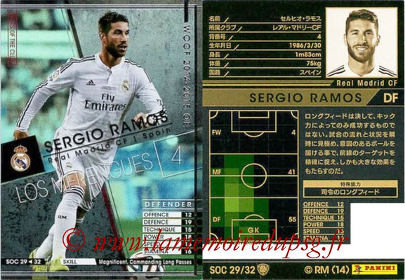 2014-15 - WCCF - N° SOC29 - Sergio RAMOS (Real Madrid CF) (Stars Of the Club)