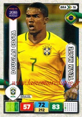 2018 - Panini Road to FIFA World Cup Russia Adrenalyn XL - N° BRA16 - Douglas COSTA (Brésil)