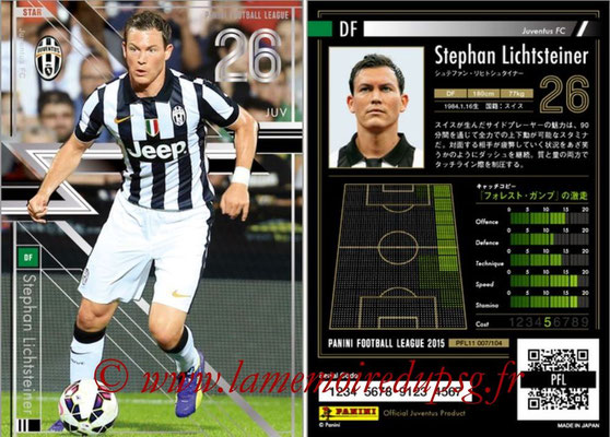 Panini Football League 2015 - PFL11 - N° 007 - Stephan LICHTSTEINER (Juventus FC) (Star)