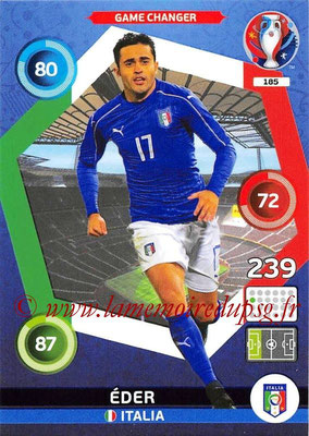 Panini Euro 2016 Cards - N° 185 - ÉDER (Italie) (Game Changer)