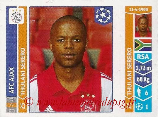 2014-15 - Panini Champions League N° 460 - Thulani SERERO (AFC Ajax)