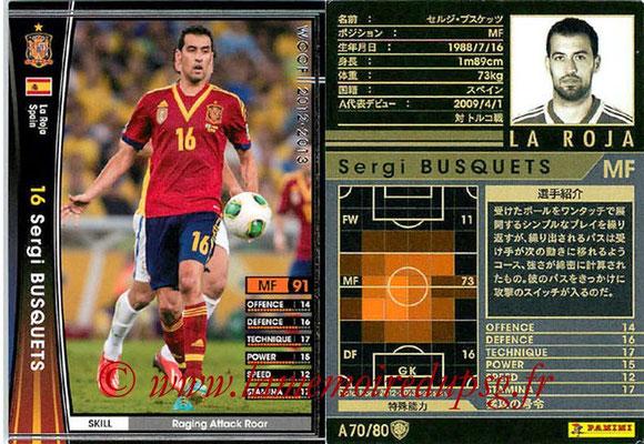 2012-13 - WCCF - N° A70 - Sergi BUSQUETS (Espagne)