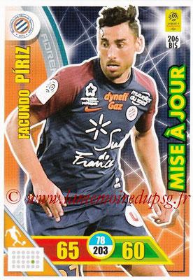 2017-18 - Panini Adrenalyn XL Ligue 1 - N° 206bis - Facundo PIRIZ (Montpellier) (Mise à jour)
