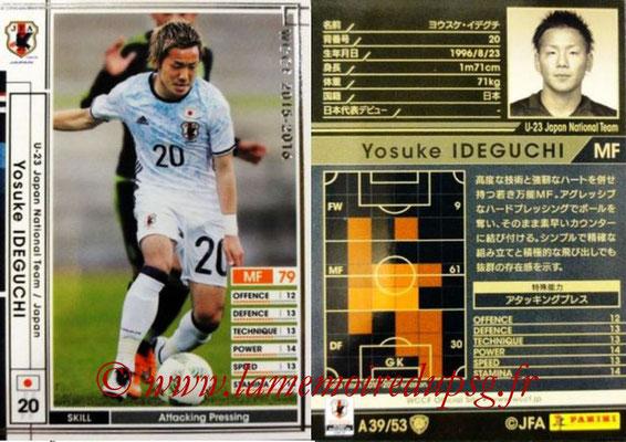 2015-16 - Panini WCCF - N° A39 - Yosuke IDEGUCHI (Japon)