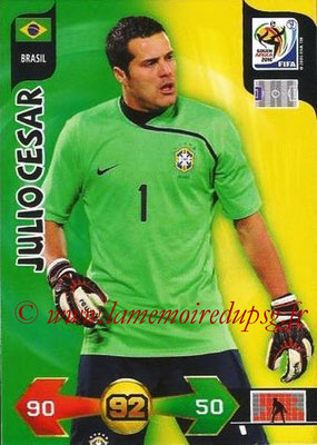 2010 - Panini FIFA World Cup South Africa Adrenalyn XL - N° 033 - Julio CESAR (Bresil)