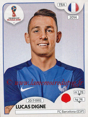 2018 - Panini FIFA World Cup Russia Stickers - N° 196 - Lucas DIGNE (France)