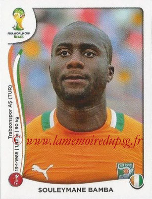 2014 - Panini FIFA World Cup Brazil Stickers - N° 227 - Souleymane BAMBA (Côte d'Ivoire)