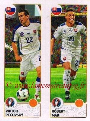 Panini Euro 2016 Stickers - N° 211 - Viktor PECOVSKY + Robert MAK (Slovénie)