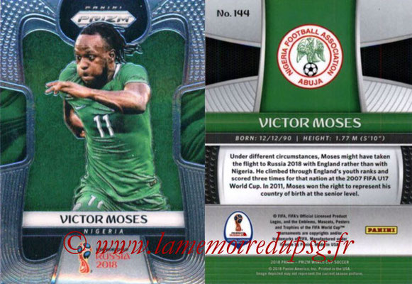 2018 - Panini Prizm FIFA World Cup Russia - N° 144 - Victor MOSES (Nigeria)
