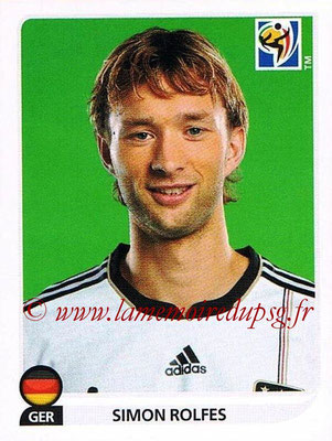 2010 - Panini FIFA World Cup South Africa Stickers - N° 267 - Simon ROLFES (Allemagne)
