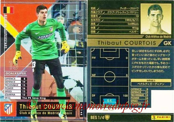 2013-14 - WCCF - N° BES1 - Thibaut COURTOIS (Atletico Madrid) (Belgian Superstars)