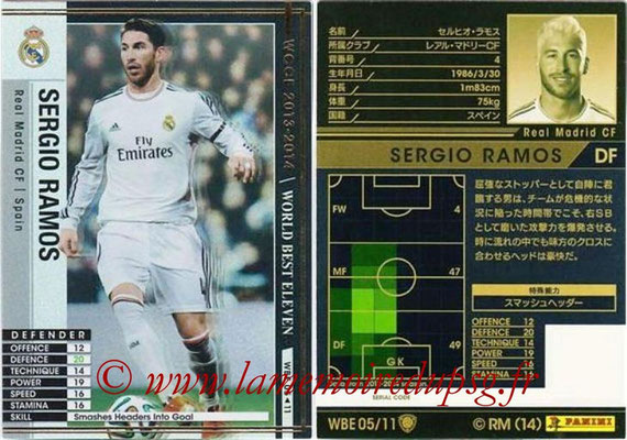 2013-14 - WCCF - N° WBE05 - Sergio RAMOS (Real Madrid CF) (World Best Eleven)