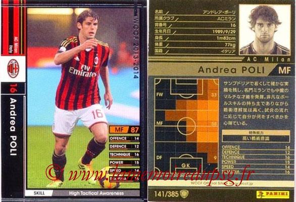 2013-14 - WCCF - N° 141 - Andrea POLI (Milan AC)