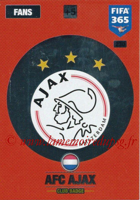 2016-17 - Panini Adrenalyn XL FIFA 365 - N° 230 - Logo AFC Ajax
