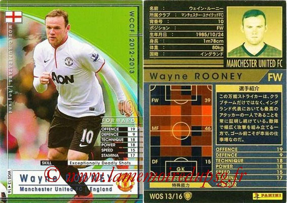 2012-13 - WCCF - N° WOS13 - Wayne ROONEY (Manchester United FC) (World Superstar)