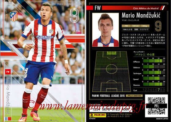 Panini Football League 2015 - PFL11 - N° 045 - Mario MANDZUKIC (Atletico Madrid) (Star)