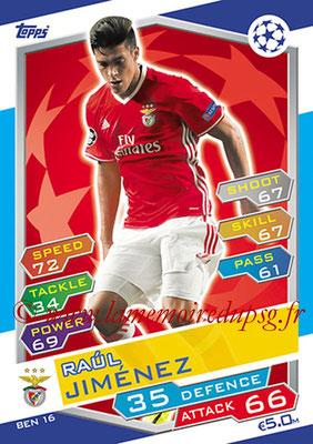 2016-17 - Topps UEFA Champions League Match Attax - N° BEN16 - Raul JIMENEZ (SL Benfica)