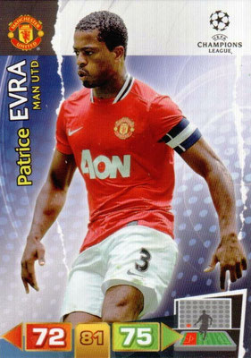 2011-12 - Panini Champions League Cards - N° 146 - Patrice EVRA (Manchester United FC)