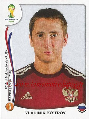 2014 - Panini FIFA World Cup Brazil Stickers - N° 614 - Vladimir BYSTROV (Russie)