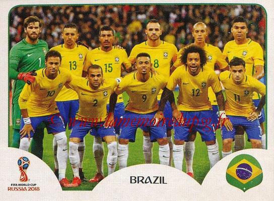 2018 - Panini FIFA World Cup Russia Stickers - N° 353 - Equipe Bresil