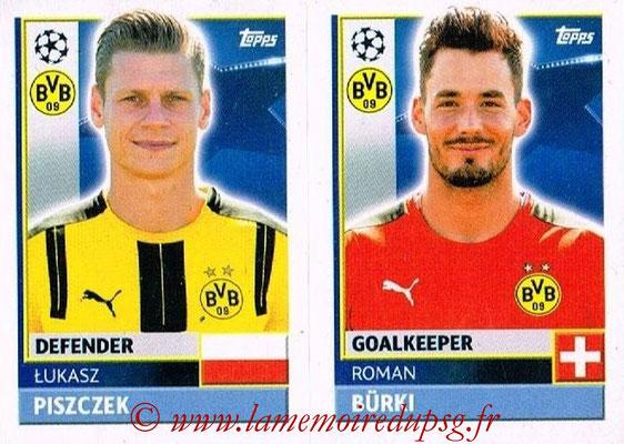 2016-17 - Topps UEFA Champions League Stickers - N° DOR 4-5 - Roman BURKI + Lukasz PSIZCZEK (Borussia Dortmund)
