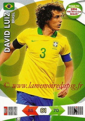 2014 - Panini Road to FIFA World Cup Brazil Adrenalyn XL - N° 015 - David LUIZ (Brésil)